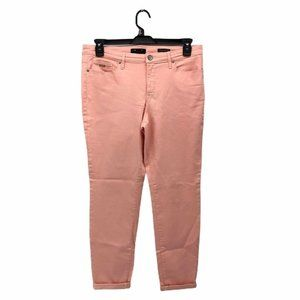 Nine West Jeans Womens Slim Skinny Denim Pink 10